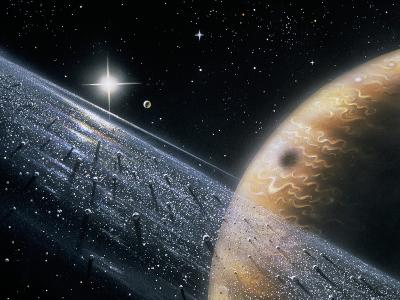 Artist's Impression of Jupiter & Its Ring-David Hardy-Photographic Print