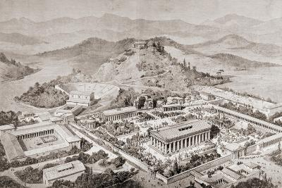 Artist's Impression of Olympia, Greece, at the Time of the Ancient Olympic Games, from 'El Mundo?-European School-Giclee Print