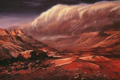 Artist's Impression of the Martian Surface-Ludek Pesek-Photographic Print