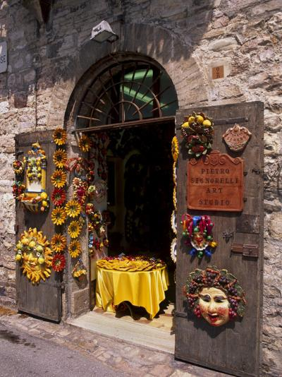 Artist's Shop, Assisi, Umbria, Italy, Europe-Patrick Dieudonne-Photographic Print