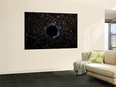 Artist's View of a Black Hole in a Globular Cluster--Giant Art Print