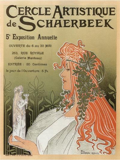 Artistic Club of Schaerbeek; 5th Annual Show-Henri Privat-Livemont-Art Print