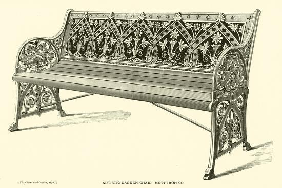 Artistic Garden Chair, Mott Iron Company--Giclee Print