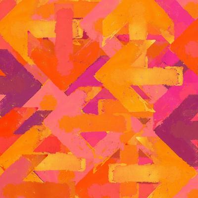 Artistic Grunge Design Arrows Background in a Warm Colors-Lava 4 images-Art Print