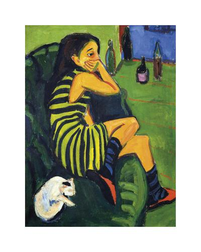 Artistin Marcella, 1910-Ernst Ludwig Kirchner-Premium Giclee Print