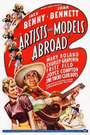 Artists and Models Abroad, Joan Bennett, Jack Benny, 1938--Art Print