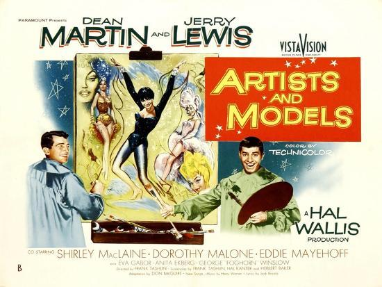 Image result for artists and models 1955