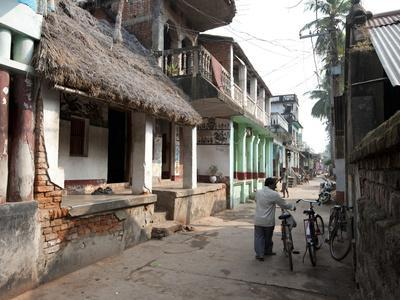Artists Houses with Thatched Roofs in Main Street of Artists' Village, Raghurajpur, Orissa, Inda-Annie Owen-Photographic Print