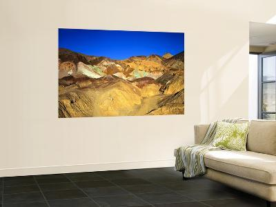 Artists Palatte a Rainbow of Colors at Edge of Black Mountains, Death Valley National Park, CA-Bernard Friel-Wall Mural