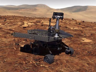 Artists Rendition of Mars Rover-Stocktrek Images-Photographic Print