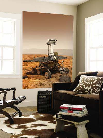 Artists Rendition of Mars Rover--Wall Mural