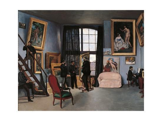 Artists Studio, Rue de la Condamine-Frederic Bazille-Premium Giclee Print