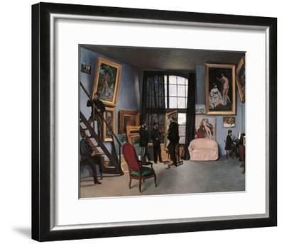 Artists Studio, Rue de la Condamine-Frederic Bazille-Framed Art Print