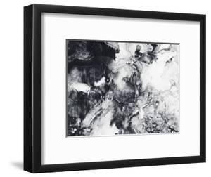 Abstract Hand Painted Black and White Background, Acrylic Painting on Canvas, Wallpaper, Texture by Artlusy