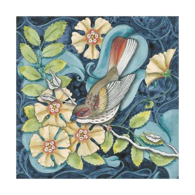 Arts and Crafts Bird II-Elyse DeNeige-Art Print