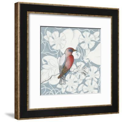 Arts and Crafts Birds I Tone on Tone-Elyse DeNeige-Framed Art Print