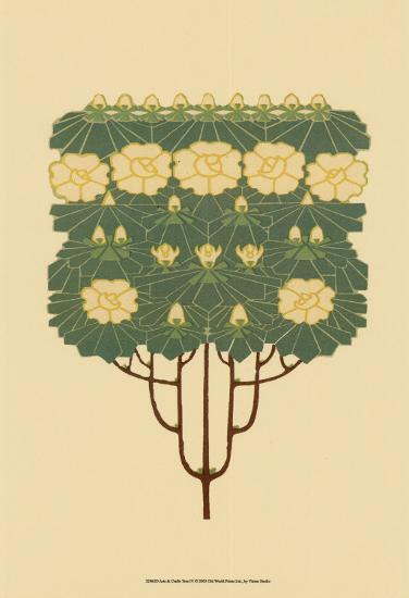 Arts and Crafts Tree IV--Art Print