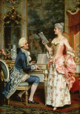 The Singing Lesson by Arturo Ricci