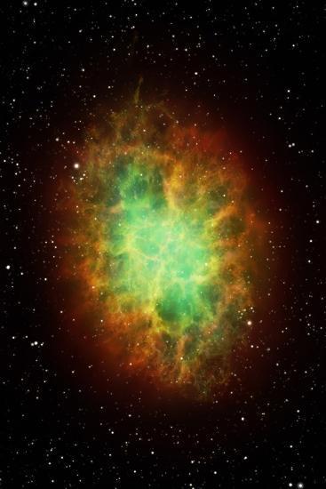 Artwork of the Crab Nebula (M1)-Science Photo Library - MARK GARLICK-Photographic Print