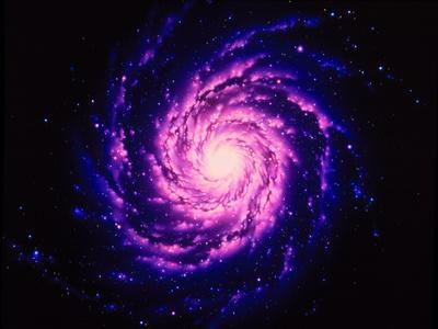 Space Swirling Core of the milky Way Galaxy Photographic Art Print