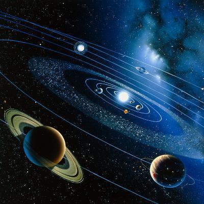 Artwork of the Solar System-Detlev Van Ravenswaay-Photographic Print
