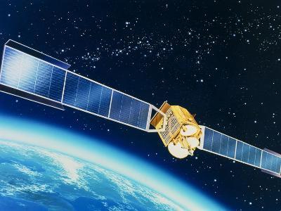 Artwork of the Telecom 1A Communications Satellite-David Ducros-Photographic Print