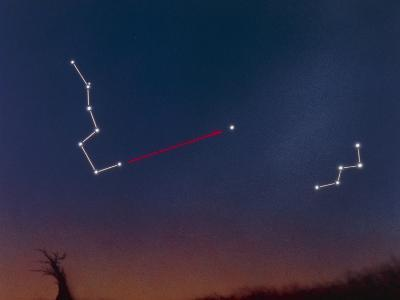 Artwork Showing How To Locate the Pole Star-Julian Baum-Photographic Print