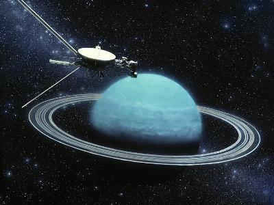 Artwork Showing Voyager 2's Encounter with Uranus-Julian Baum-Photographic Print