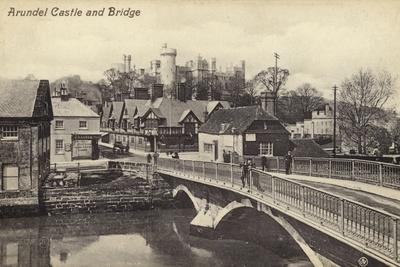 Arundel Castle and Bridge--Photographic Print