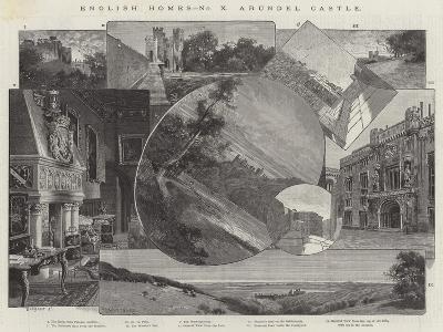 Arundel Castle-Charles Auguste Loye-Giclee Print
