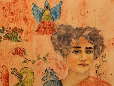 Arundhati Roy, 2017-Susan Adams-Giclee Print