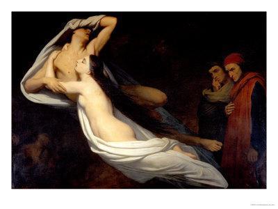 Francesca Da Rimini and Paolo Da Verrucchio Appear to Dante and Virgil