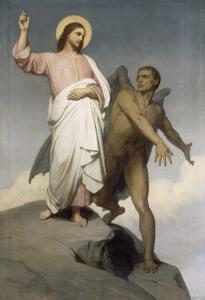 La tentation du Christ by Ary Scheffer