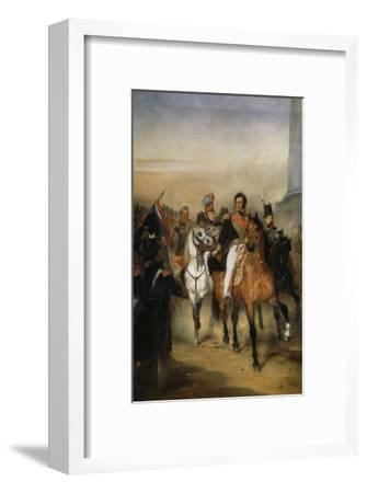 Le duc d'Orléans, lieutenant général du Royaume reçoit à la barrière du trô