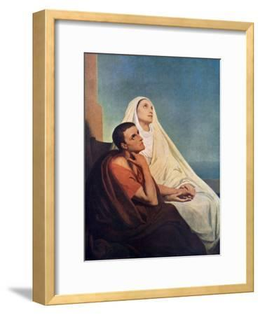 St Augustine with His Mother St Monica, 1855