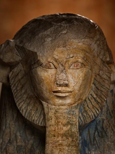 As a sphinx, Hatshepsut displays a lion's mane and a pharaoh's beard-Kenneth Garrett-Photographic Print