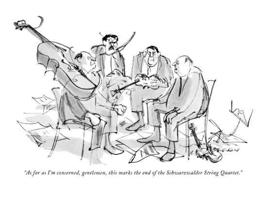 """""""As far as I'm concerned, gentlemen, this marks the end of the Schwarzwald?"""" - New Yorker Cartoon-James Stevenson-Premium Giclee Print"""