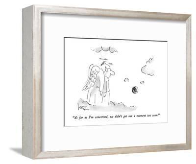 """""""As far as I'm concerned, we didn't get out a moment too soon."""" - New Yorker Cartoon-Arnie Levin-Framed Premium Giclee Print"""