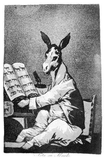 As Far Back as His Grandfather, 1799-Francisco de Goya-Giclee Print