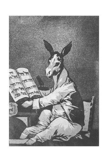As Far Back as His Grandfather, Plate 39 of 'Los Caprichos', 1799-Francisco de Goya-Giclee Print