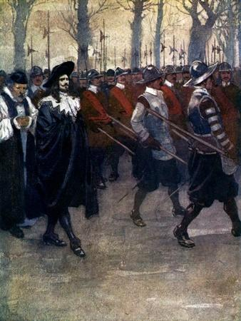Charles the King Walked for the Last Time Through the Streets of London, 1649