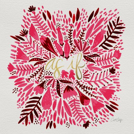As If - Pink-Cat Coquillette-Giclee Print