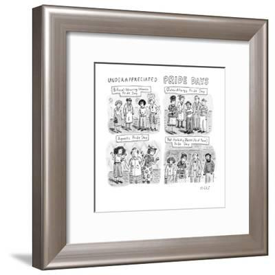 As of Now - New Yorker Cartoon-Roz Chast-Framed Premium Giclee Print