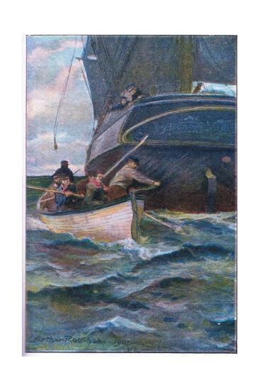 As She Was Leaving the Side-Arthur Rackham-Giclee Print