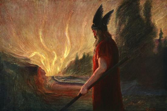 'As the Flames Rise, Wotan Leaves', 1906-Unknown-Giclee Print