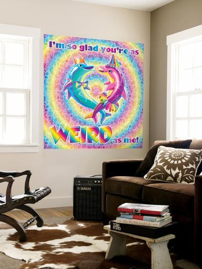 As Weird As Me Wall Mural by Lisa Frank | Art.com