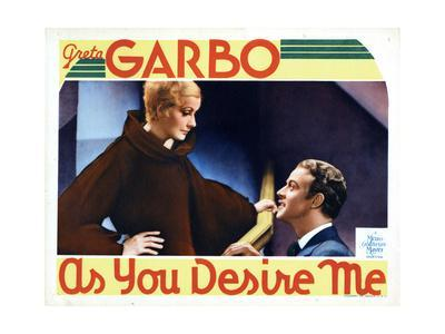 As You Desire Me, from Left, Greta Garbo, Roland Varno, 1932--Giclee Print