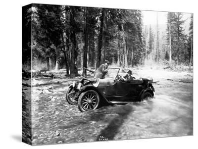 Auto Fording Clear Creek, Yakima, 1918