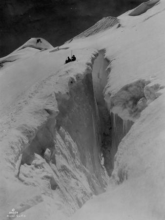 Crevasse on Mount Baker, Circa 1907