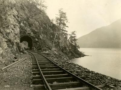 Lake Crescent Road, 1918 by Asahel Curtis